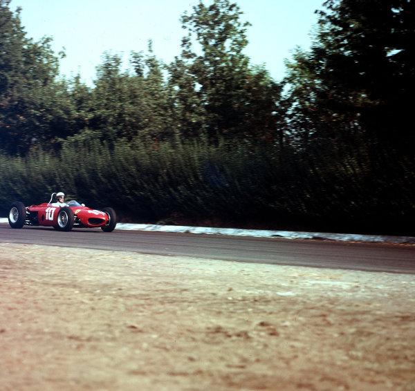 Monza, Italy.14-16 September 1962.Phil Hill (Ferrari Dino 156).Ref-3/0672.World Copyright - LAT Photographic
