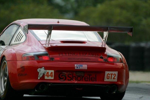 Lonnie Pechnik (USA) Flying Lizard Motorsports Porsche 911 GT3-RSR.American Le Mans Series, Rd7, Road America, Elkhart Lake, USA, 19-21 August 2005.DIGITAL IMAGE