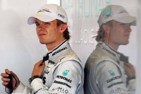 Nico Rosberg (GER) Mercedes GP. Formula One World Championship, Rd 10, British Grand Prix, Practice Day, Silverstone, England, Friday 9 July 2010.