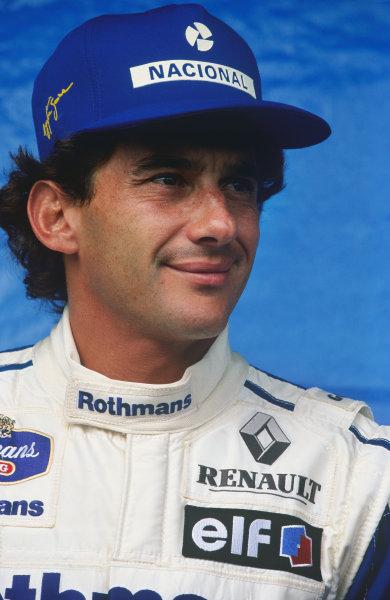 Interlagos, Sao Paulo, Brazil.25-27 March 1994.Ayrton Senna (Williams FW16 Renault), portrait.World Copyright LAT Photographic.Ref: Colour Transparency.