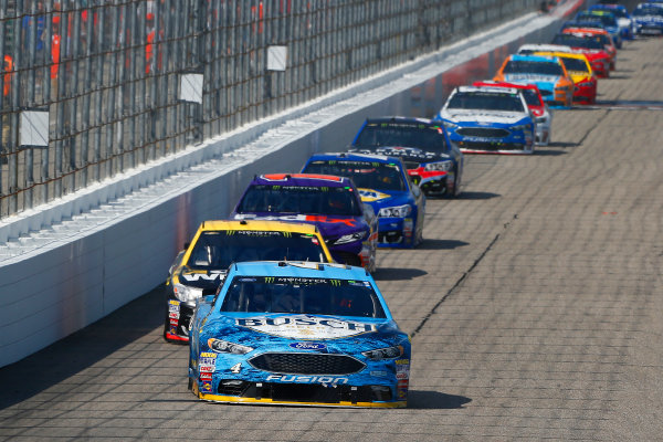 Monster Energy NASCAR Cup Series Overton?s 301 New Hampshire Motor Speedway, Loudon, NH USA Sunday 16 July 2017 Kevin Harvick, Stewart-Haas Racing, Busch Beer Ford Fusion and Jamie McMurray, Chip Ganassi Racing, GearWrench Chevrolet SS World Copyright: Russell LaBounty LAT Images