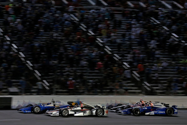 Verizon IndyCar Series Rainguard Water Sealers 600 Texas Motor Speedway, Ft. Worth, TX USA Saturday 10 June 2017 Scott Dixon, Chip Ganassi Racing Teams Honda, Will Power, Team Penske Team Penske Chevrolet World Copyright: Phillip Abbott LAT Images ref: Digital Image abbott_texasIC_0617_5040