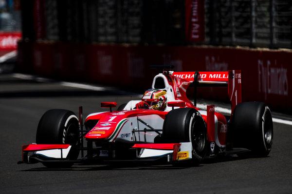2017 FIA Formula 2 Round 4. Baku City Circuit, Baku, Azerbaijan. Friday 23 June 2017. Charles Leclerc (MCO, PREMA Racing)  Photo: Zak Mauger/FIA Formula 2. ref: Digital Image _54I9701