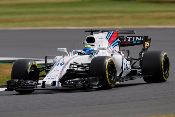 Silverstone, Northamptonshire, UK.  Friday 14 July 2017. Felipe Massa, Williams FW40 Mercedes. World Copyright: Zak Mauger/LAT Images  ref: Digital Image _56I8645