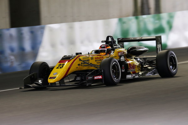 2017 Japanese Formula 3 Championship. Motegi, Japan. 29th - 230th July 2017. Rd 14 15 & 16. Rd16 2nd position Mitsunori Takaboshi ( #23 B-MAX NDDP F3 ) action World Copyright: Yasushi Ishihara / LAT Images. Ref: 2017JF3_R14_16_14
