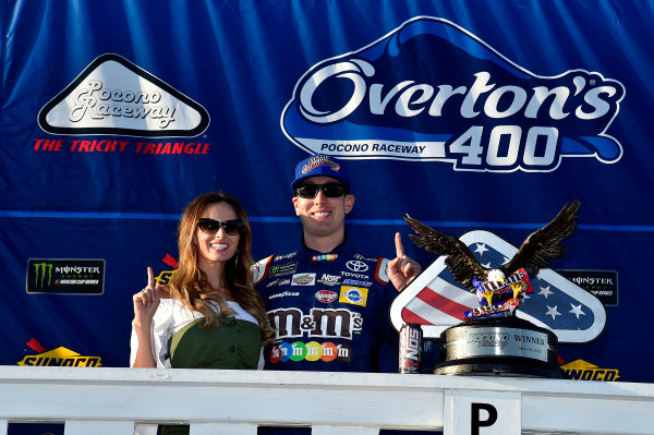 Monster Energy NASCAR Cup Series Overton's 400 Pocono Raceway, Long Pond, PA USA Sunday 30 July 2017 Kyle Busch, Joe Gibbs Racing, M&M's Caramel Toyota Camry wins World Copyright: Rusty Jarrett LAT Images