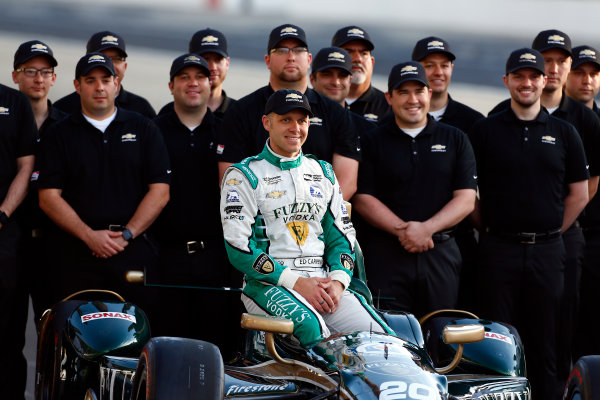 Verizon IndyCar Series Indianapolis 500 Qualifying Indianapolis Motor Speedway, Indianapolis, IN USA Monday 22 May 2017 Ed Carpenter, Ed Carpenter Racing Chevrolet poses for front row photos World Copyright: Phillip Abbott LAT Images ref: Digital Image abbott_indyQ_0517_21504