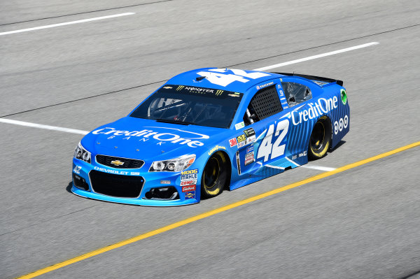 Monster Energy NASCAR Cup Series Toyota Owners 400 Race Weekend. Richmond International Raceway, Richmond, VA USA Kyle Larson, Chip Ganassi Racing, Credit One Bank Chevrolet SS  World Copyright: John Harrelson LAT Images . ref: Digital Image 17RIC1jh_00135
