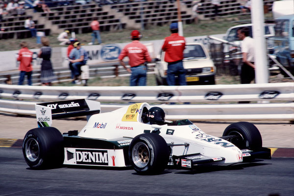 1983 South African Grand Prix.Kyalami, South Africa.13-15 October 1983.Jacques Laffite (Williams FW09 Honda).Ref-83 SA 30.World Copyright - LAT Photographic