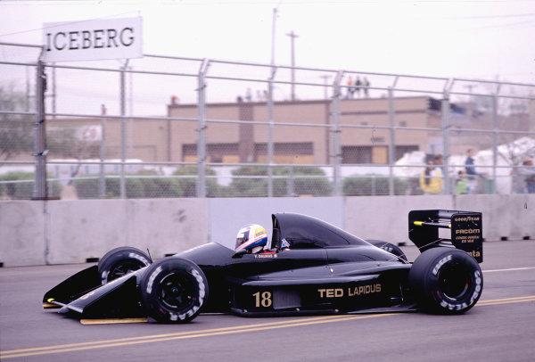 1990 United States Grand Prix.Phoenix, Arizona, USA.9-11 March 1990.Yannick Dalmas (AGS JH24 Ford).Ref-90 USA 41.World Copyright - LAT Photographic