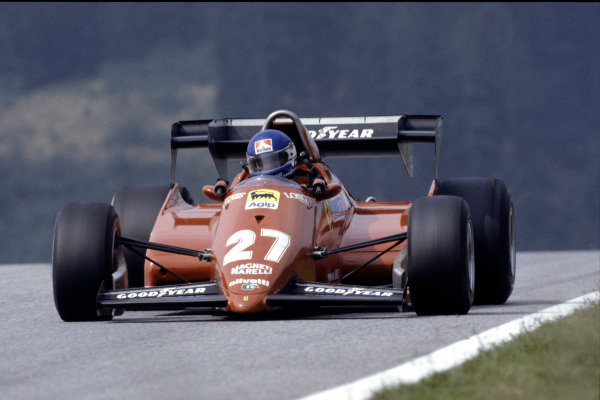 1983 Austrian Grand Prix  Osterreichring, Austria. 12-14 August 1983.  Patrick Tambay, Ferrari 126C3, retired.  Ref: 83AUT02. World Copyright - LAT Photographic