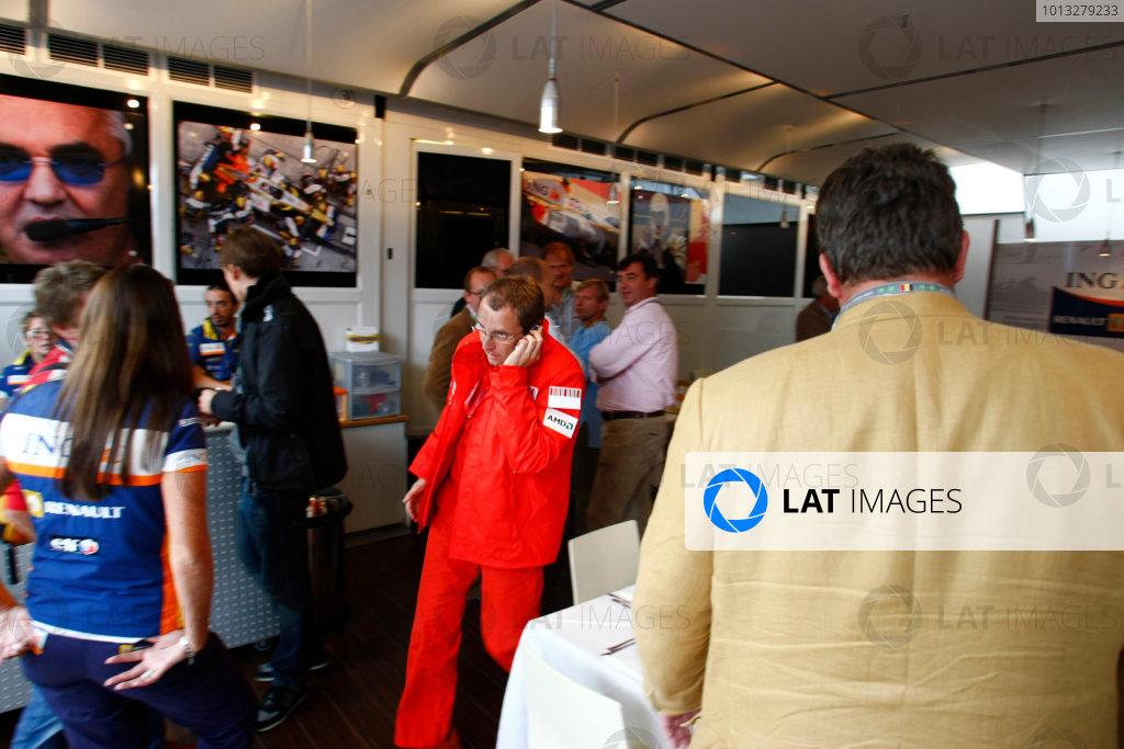 Spa Francorchamps, Spa, Belgium.6th September 2008.Stefano Domenicali, Sporting Director, Ferrari. Portrait. World Copyright: Charles Coates/LAT Photographicref: Digital Image _26Y8808