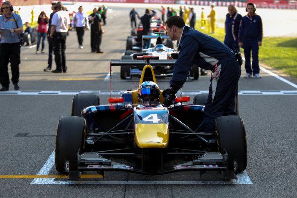 2013 GP3 Series. Round 1.  Circuit de Catalunya, Barcelona, Spain.  12th May Sunday Race 02 Carlos Sainz Jr (  Portrait  World Copyright: Malcolm Griffiths/GP3 Media Service.  Ref: Digital ImageC76D5677.JPG