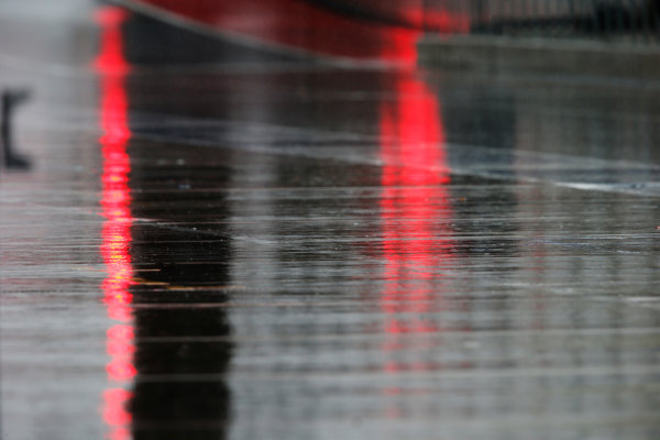 Circuit of the Americas, Austin, Texas, United States of America. Friday 23 October 2015. Water flows through the pit lane. World Copyright: Steven Tee/LAT Photographic. ref: Digital Image _L4R6621