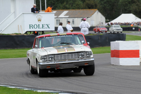 2015 Goodwood Revival Meeting Goodwood Estate, West Sussex, England 11th - 13th September 2015 St Mary's Trophy Part 2 Henry Mann Ford Fairlane Thunderbolt World Copyright : Jeff Bloxham/LAT Photographic Ref : Digital Image DSC_0210