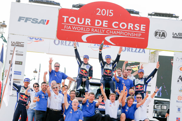 2015 World Rally Championship Round 11, Tour de Corse  1st - 4th October, 2015 Jari-Matti Latvala, VW, winner  Worldwide Copyright: McKlein/LAT