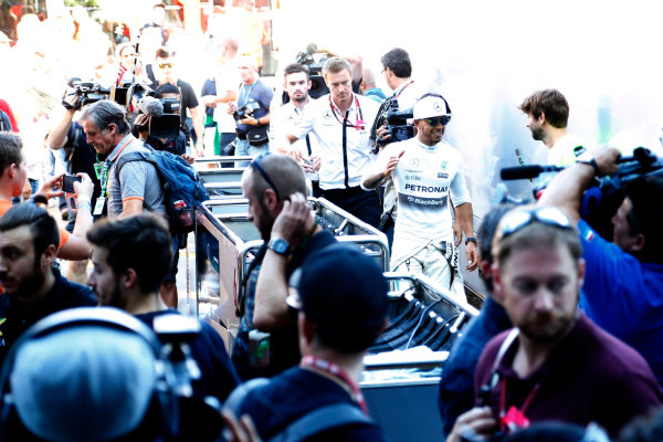 Autodromo Nazionale di Monza, Monza, Italy. Sunday 6 September 2015. Lewis Hamilton, Mercedes AMG. World Copyright: Jed Leicester/LAT Photographic ref: Digital Image _L2_9495