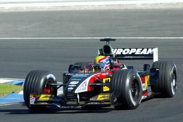 Mark Webber (AUS) Minardi Asiatech PS02.German Grand Prix, Hockenheim, Germany, 28 July 2002.DIGITAL IMAGE