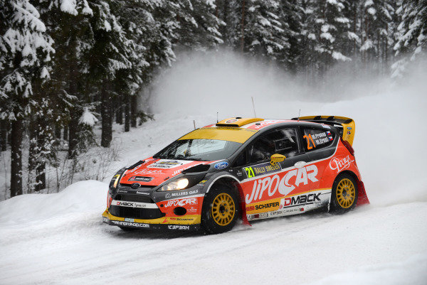 Martin Prokop (CZE) and Michal Ernst (CZE), Ford Fiesta RS WRC on stage 18. FIA World Rally Championship, Rd2, Rally Sweden, Karlstad, Sweden, Day Three, Sunday 10 February 2013.