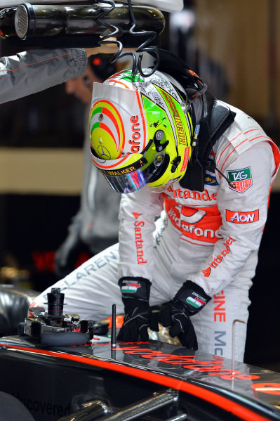Sergio Perez (MEX) McLaren MP4-28. Formula One World Championship, Rd9, German Grand Prix, Practice, Nurburgring, Germany, Friday 5 July 2013.