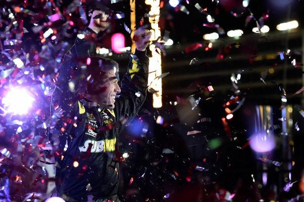 21-24 May, 2015, Concord, North Carolina USA Carl Edwards, Subway Toyota Camry (19), Celebrates in Victory Lane. ?2015, John Harrelson / LAT PHOTO USA