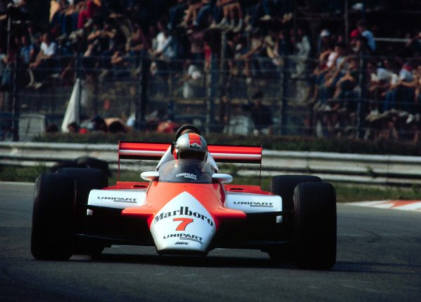 1982 Italian Grand Prix.Monza, Italy.10-12 September 1982.John Watson (McLaren MP4/1B Ford) 4th position. 