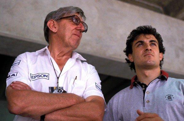 Ken Tyrrell and Jean Alesi.