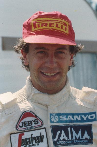 1984 Brazilian Grand Prix. Jacarepagua, Rio de Janeiro, Brazil. 23-25 March 1984. Johnny Cecotto (Toleman TG183B Hart), portrait. World Copyright: LAT Photographic Ref: C15A 01.
