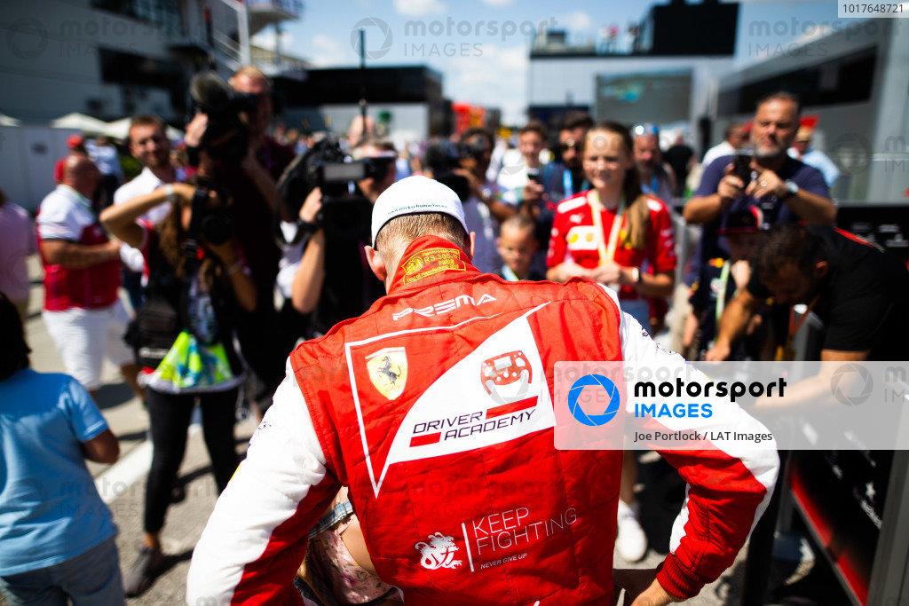HUNGARORING, HUNGARY - AUGUST 04: Mick Schumacher (DEU, PREMA RACING) during the Hungaroring at Hungaroring on August 04, 2019 in Hungaroring, Hungary. (Photo by Joe Portlock / LAT Images / FIA F2 Championship)