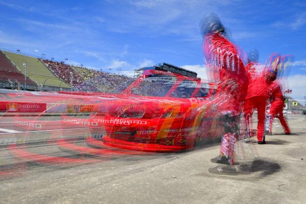 #7: Justin Allgaier, JR Motorsports, Chevrolet Camaro BRANDT Professional Agriculture makes a pit stop