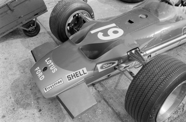 The front end of Jackie Oliver's Lotus 49B Ford.