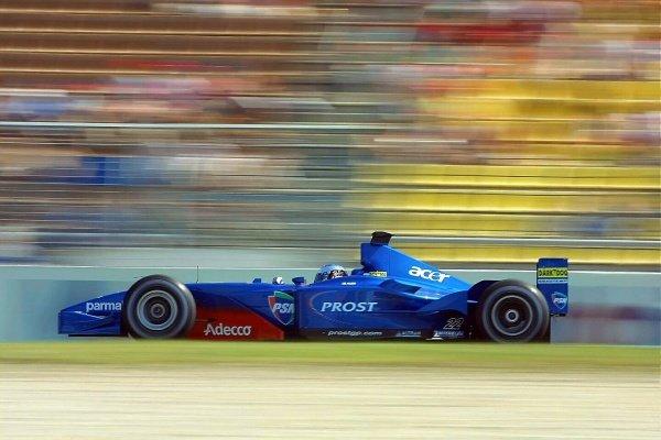 Jean Alesi(FRA) Prost Acer AP04 German Grand Prix Practice, Hockenheim 27 July 2001 DIGITAL IMAGE