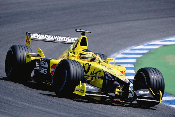 2001 German Grand Prix.Hockenheim, Germany. 27-29 July 2001.Ricardo Zonta (Jordan EJ11 Honda).Ref-01 GER 26.World Copyright - Clive Rose/LAT Photographic