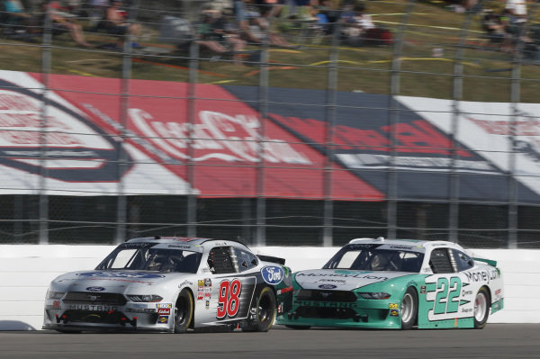 #22: Austin Cindric, Team Penske, Ford Mustang MoneyLion #98: Chase Briscoe, Stewart-Haas Racing, Ford Mustang Ford Performance