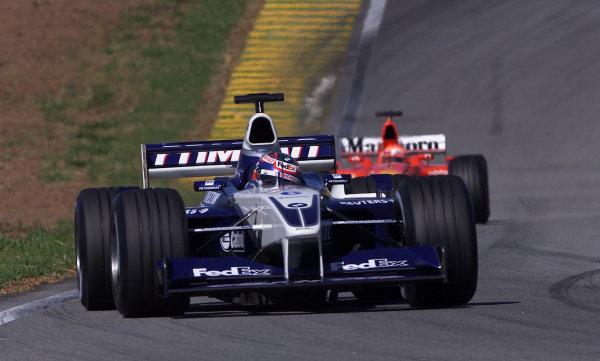 2002 Brazilian Grand Prix - Race Interlagos, Brazil. 31 March 2002 Juan Pablo Montoya (Williams FW24 BMW).  World Copyright: Pic Steve Etherington/LAT Photographic Ref: xxmb Digital Image Only