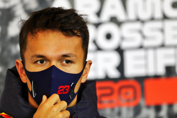 Alexander Albon, Red Bull Racing in the press conference