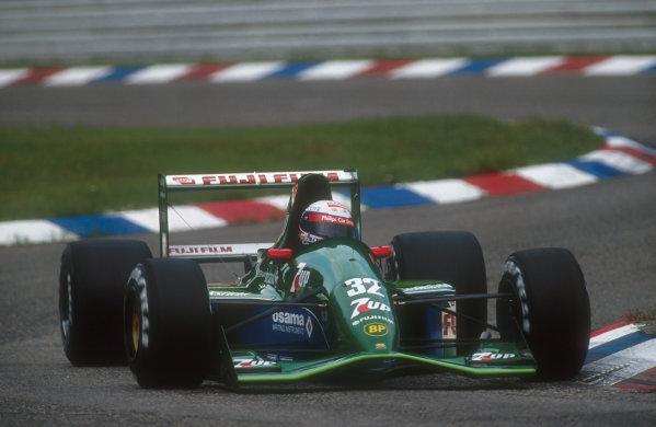 1991 German Grand Prix.Hockenheim, Germany.26-28 July 1991.Bertrand Gachot (Jordan 191 Ford) 6th position.Ref-91 GER 08.World Copyright - LAT Photographic