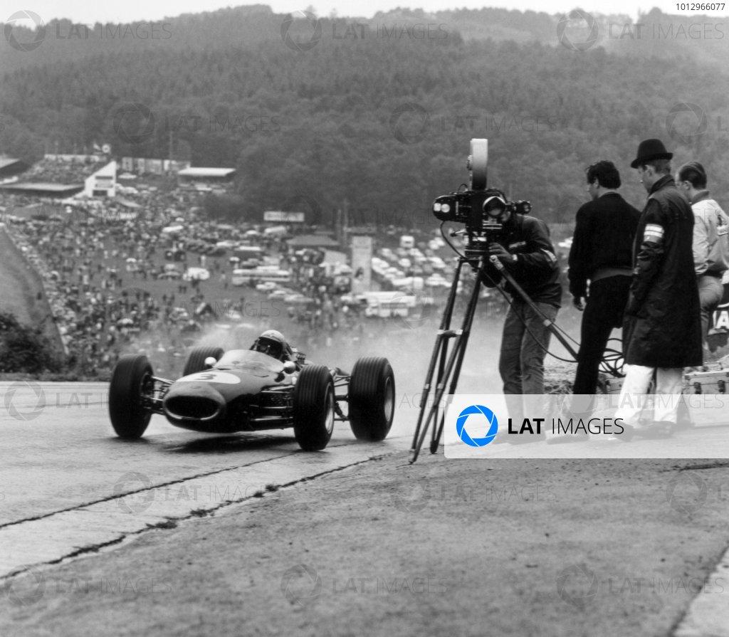 1966 Belgian Grand Prix.Spa-Francorchamps, Belgium. 12 June 1966.Jack Brabham, Brabham BT19-Repco, 4th position, action.World Copyright: LAT PhotographicRef: 34857