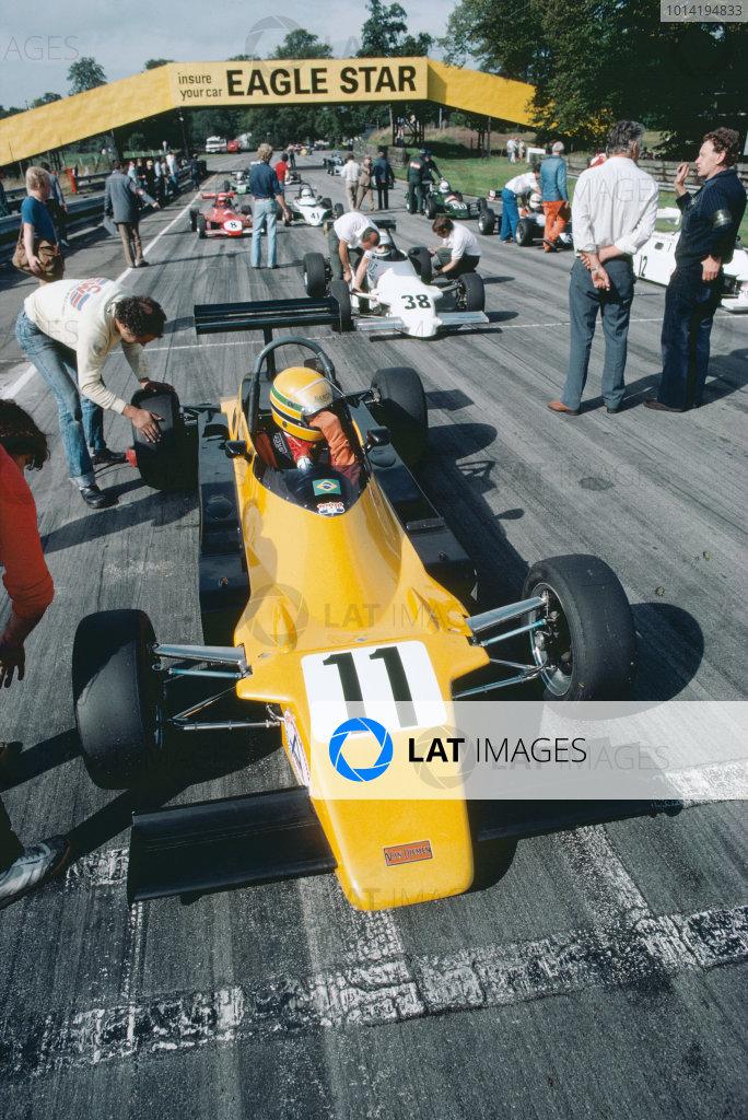 1982 British Formula Ford 2000 Championship. Oulton Park, England. 4th September 1982. Ayrton Senna (Van Diemen- Nelson RF82), 1st position, action. World Copyright: LAT Photographic.