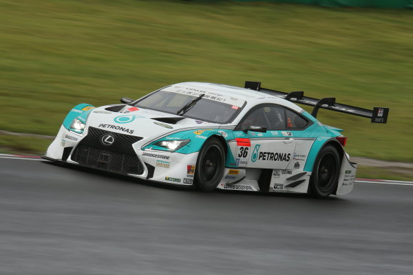 2014 Japanese Super GT Series. Sugo, Japan. 19th - 20th July 2014. Rd 4. GT500 - Pole position Kazuki Nakajima & James Rossiter ( #36 PETRONAS TOM'S RC F ) action. World Copyright: Yasushi Ishihara / LAT Photographic. Ref:  2014SGT_Rd4_016.JPG