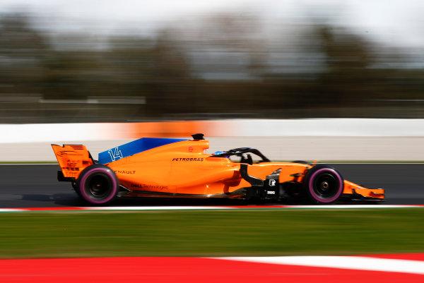Circuit de Catalunya, Barcelona, Spain. Friday 09 March 2018. Fernando Alonso, McLaren MCL33 Renault. World Copyright: Glenn Dunbar/LAT Images ref: Digital Image _31I2656