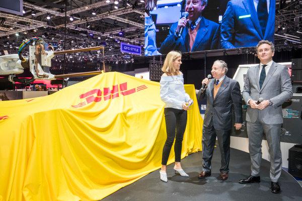2017/2018 FIA Formula E Championship. Geneva Motor Show Tuesday 6 March 2018. The FIA Formula-E Gen2 car is unveiled. Photo: Sam Bloxham/LAT/Formula E ref: Digital Image _W6I3760