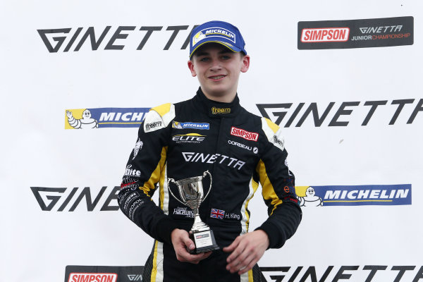 2017 Ginetta Junior Championship, Silverstone, Northants, UK. 16th-17th September 2017 Harry King Elite Motorsport Ginetta Junior World copyright. JEP/LAT Images