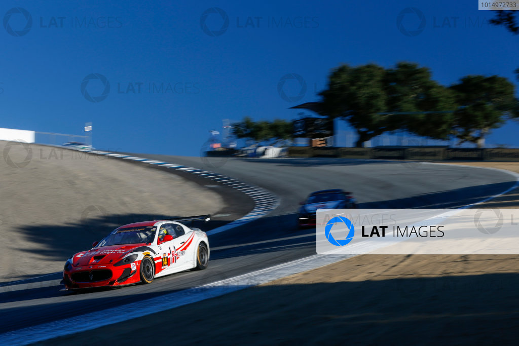IMSA Continental Tire SportsCar Challenge Mazda Raceway Laguna Seca 240 Mazda Raceway Laguna Seca Monterey, CA USA Saturday 23 September 2017 14, Maserati, Maserati GT4, GS, Memo Gidley, Cavan O'Keefe, Michael McAleenan World Copyright: Jake Galstad LAT Images