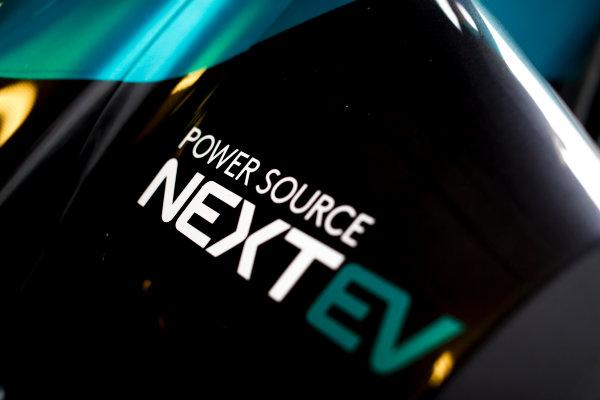 FIA Formula E Second Pre-Season Testing Event. A NextEV logo on a Spark-NEXTEV. Donington Park Racecourse, Derby, United Kingdom. Tuesday 6 September 2016. Photo: Adam Warner / LAT ref: Digital Image _L5R2822