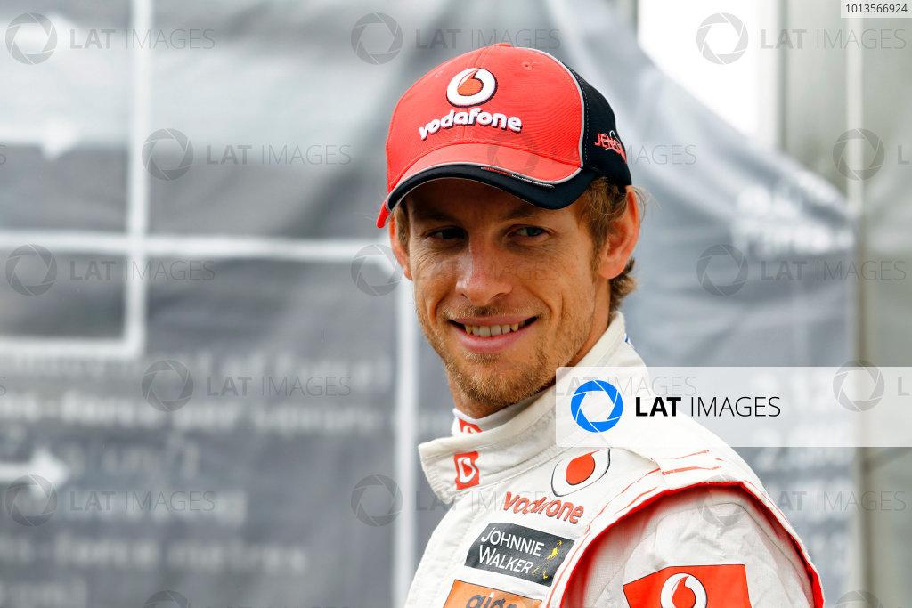 Albert Park, Melbourne, Australia 25th March 2011. Jenson Button, McLaren MP4-26 Mercedes. Portrait.  World Copyright: Steven Tee/LAT Photographic ref: Digital Image _A8C2289