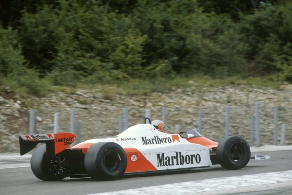 1981 French Grand Prix.Dijon-Prenois, France. 3-5 July 1981.John Watson (McLaren MP4/1-Ford Cosworth), 2nd position.World Copyright: LAT PhotographicRef: 35mm transparency 81FRA27