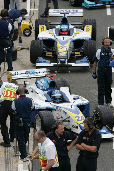 2005 GP2 Series - Great BritainSilverstone , England8th - 10th July 2005Friday QualifyingClivio Piccione (MC, Durango). nd Ferdinando Monfardini (I, Durango). World Copyright: GP2 Series Media Service ref: Digital Image Only