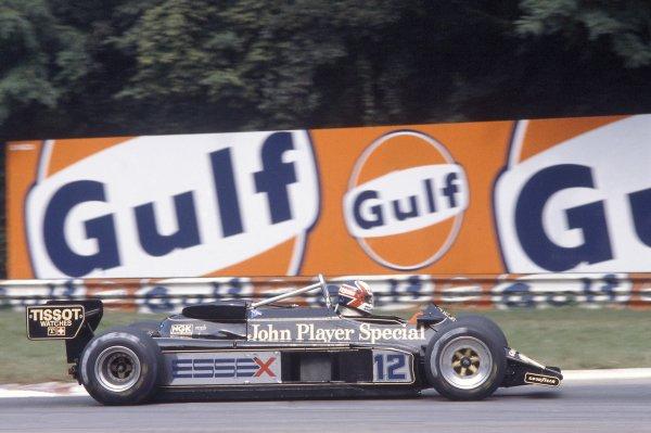 1981 Italian Grand PrixMonza, Italy. 11-13 September 1981.Nigel Mansell (Lotus 87-Ford Cosworth), retired. Ref - 81ITA14.World Copyright - LAT Photographic