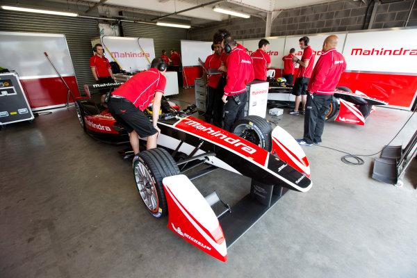 FIA Formula E Test Day, Donington Park, UK.  3rd - 4th July 2014.  Mahindra Racing. Photo: Malcolm Griffiths/FIA Formula E ref: Digital Image A50A2892